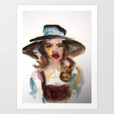 Matboard Lady 1 Art Print