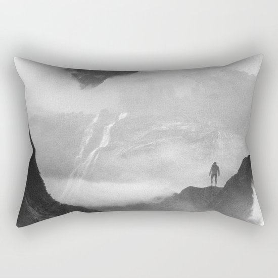 These mountains are mine of clouds Rectangular Pillow