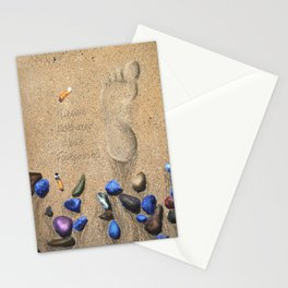 Leave nothing but footprints Stationery Cards