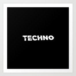 Techno sliced Art Print