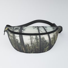 Winter Sequoia Forest Fanny Pack