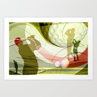 golf Art Prints featuring Golf by Robin Curtiss