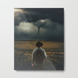 Tornado manipulation Metal Print