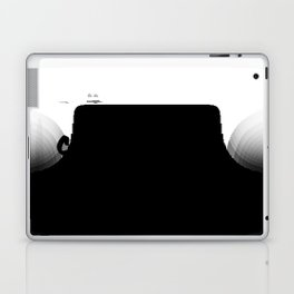 'Cartagena' Colombia Hand Letter Type Word Black & White Laptop & iPad Skin