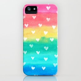 Bright Rainbow Happiness iPhone Case