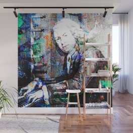 Bach Composer Musician Collage Portrait Wall Mural