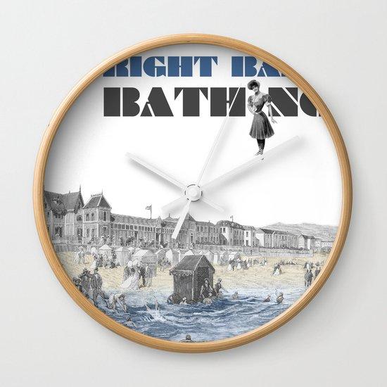 Right bank bathing Wall Clock