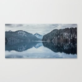 Alpsee lake,Bavarian alps Canvas Print