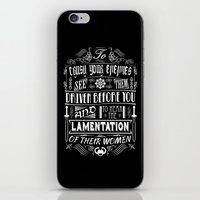 conan iPhone & iPod Skins featuring What is best in life... by Purple Cactus