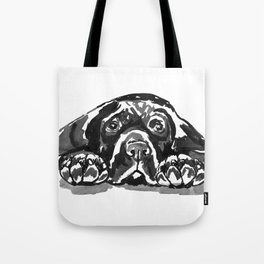 Black Lab - front view Tote Bag