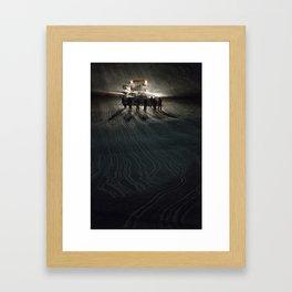Epic cat light at Nine Knights 2014 Framed Art Print