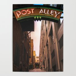 Post Alley in Seattle Washington Poster