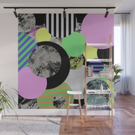 Cluttered Circles - Abstract, Geometric, Pop Art Style Wall Mural