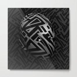 Crystallized Insomnia Head Metal Print