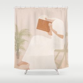 Lost Inside Shower Curtain