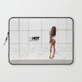 MOVEMBER Mustache BABE from Hot Fuzz Babes in Mustache Laptop Sleeve