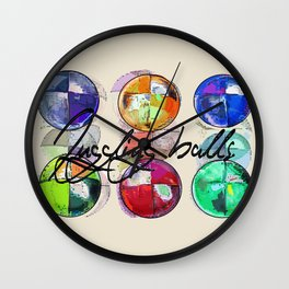 JUGGLING BEANBAGS  BALLS Wall Clock