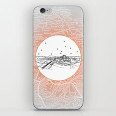 Chattanooga, Tennessee City Skyline Illustration Drawing iPhone & iPod Skin