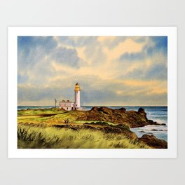 Turnberry Golf Course Scotland 9th Tee Art Print