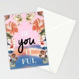 Beyoutiful tropical print Stationery Cards