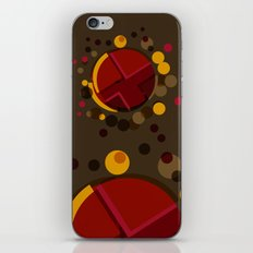 Circular Brown Abstract Dots Texture iPhone & iPod Skin