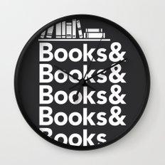 Books & Books & Books Wall Clock