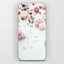 SPRING FLOWERS IN BLUSH 1 iPhone Skin