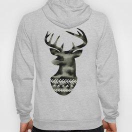 Geometric Deer Head Silhouette Hoody