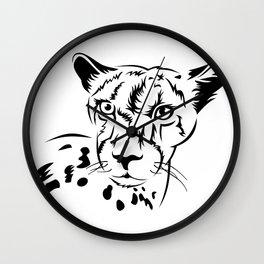 Сheetah head outline Wall Clock