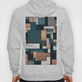 Random Pattern - Copper, Marble, and Blue Concrete Hoody