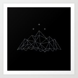 The Night Court insignia from A Court of Frost and Starlight Art Print