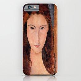 Amedeo Modigliani Portrait of Jeanne Hebuterne 1920 iPhone Case