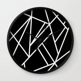 Classic Black White Geo #1 #geometric #decor #art #society6 Wall Clock