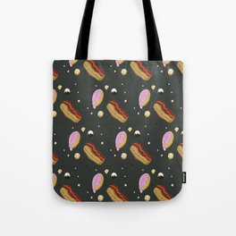 Donut pattern: Dark Tote Bag