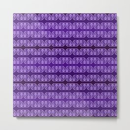 Chained Circles in Purple Metal Print