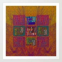 Wari sun Art Print