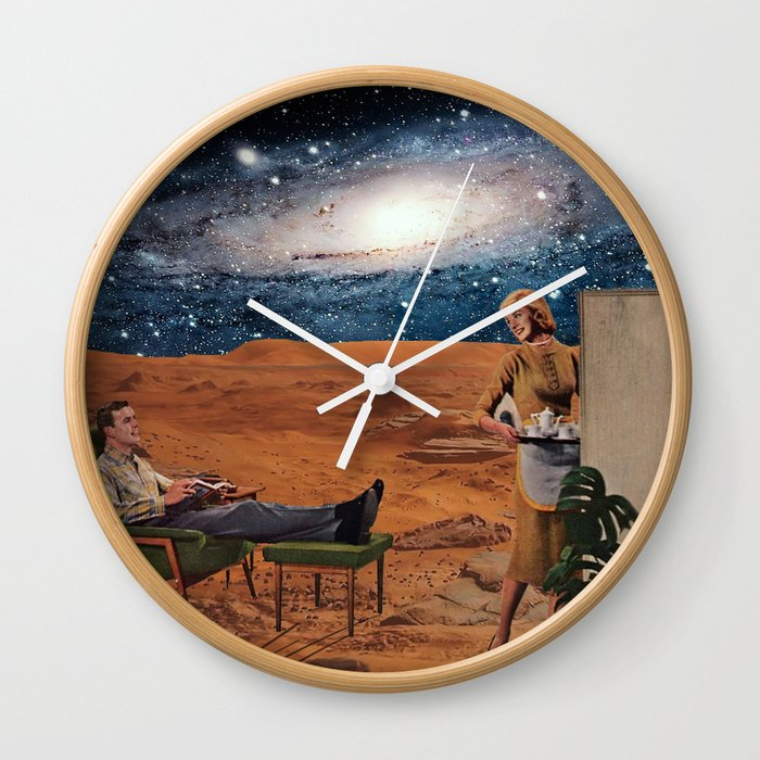 Love in Mars Wall Clock