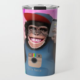 Selfie monkey Travel Mug