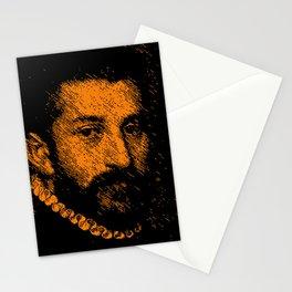 """The black knight"" by Giovanni Battista Moroni Stationery Cards"