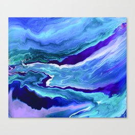 Dreamy Fluid Abstract Painting Canvas Print
