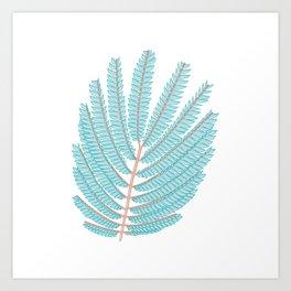 Even pinnate Leaves Vector Illustration Art Print