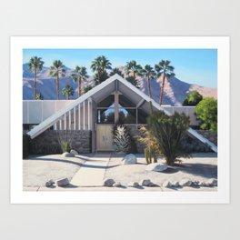 Swiss Miss House and Palms Art Print