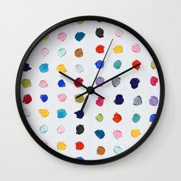 Polka Daubs Wall Clock