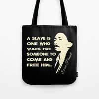 ezra koenig Tote Bags featuring Ezra Pound by Patterns of Life