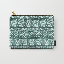 AZTECHIE Watercolor Skull Pattern Carry-All Pouch