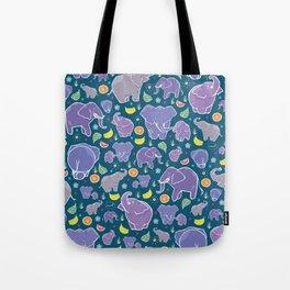 Elephants and Fruit Tote Bag
