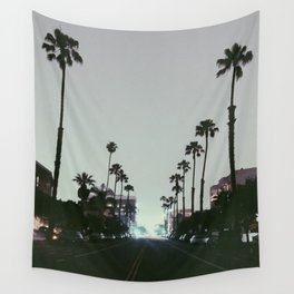 Santa Monica Palm Trees Wall Tapestry