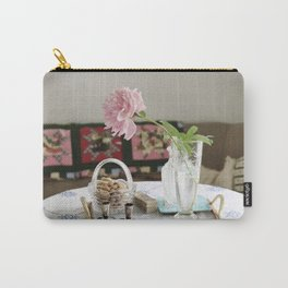 Peony and patchwork still life Carry-All Pouch