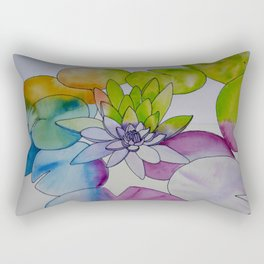 Water Color Lily Rectangular Pillow