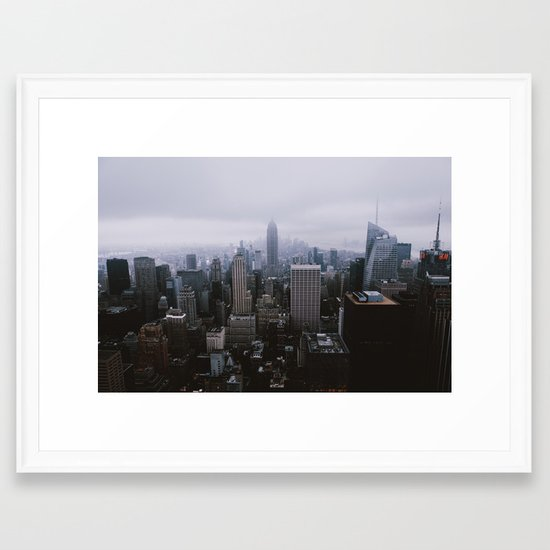 New York City - Top of the Rock Framed Art Print by pwarp | Society6